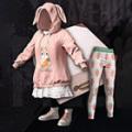 粉色兔子套装